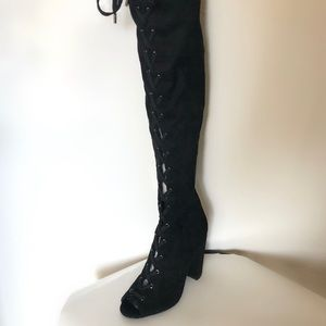 Guess Casidi Open Toe Over Knee Boot